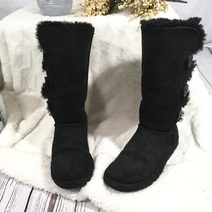 Ugg Bailey button triplet furry boots